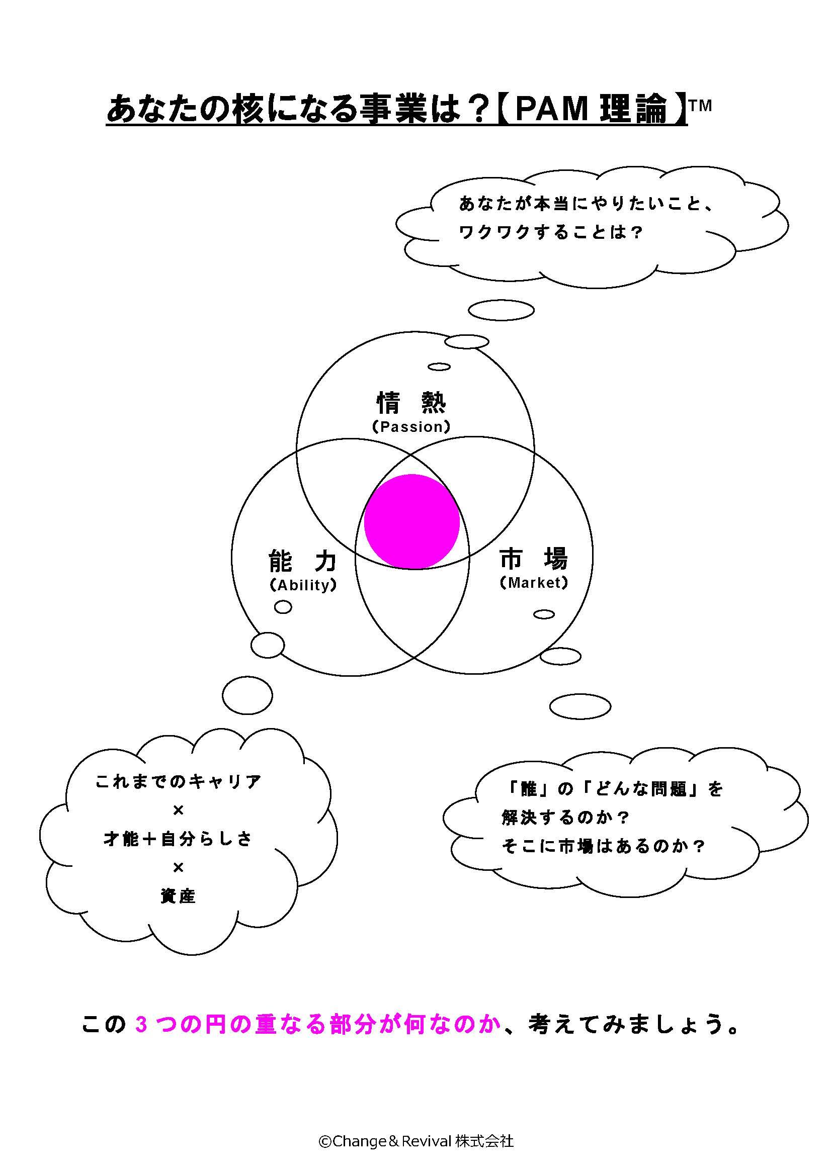 あなたの核になる事業は?【PAM理論】(概念図)